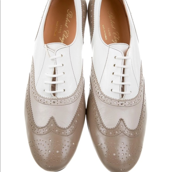 Robert Clergerie Clergerie Paris Patent Leather Brogue Flats browse for sale sale supply free shipping amazon clearance official site 2CEeVVdlR